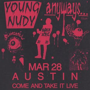 YOUNG NUDY - Anyways... Tour - 2020