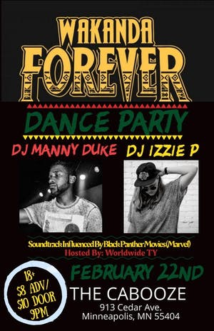 Wakanda Forever Dance Party with DJ Manny Duke and DJ Izzie P