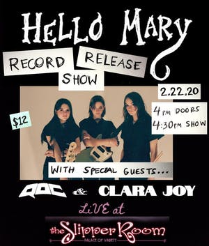 Hello Mary's Debut Record Release Show