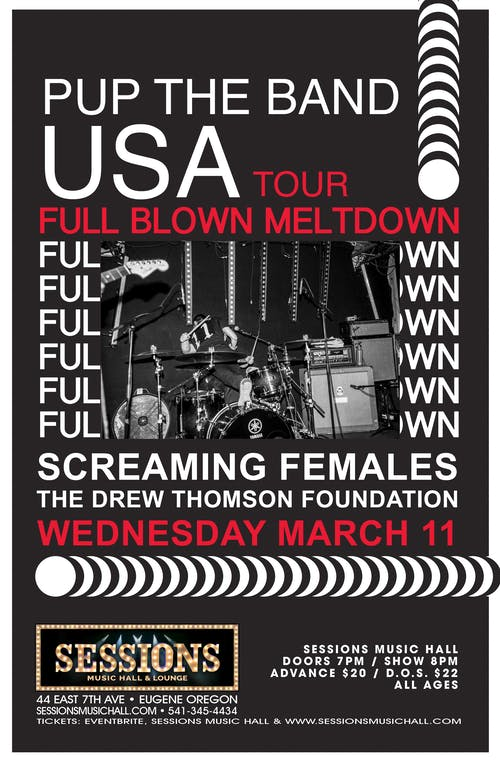 PUP with special guests Screaming Females and The Drew Thomson Foundation