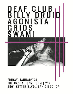 Chis Squire Turns 50 - Deaf Club, Agonista, Grids, Billy Druid, DJ Swami