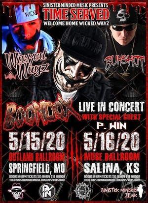 Boondox w/ Wicked Wayz & Bukshot @ Outland Ballroom