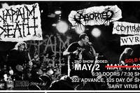 2nd night added! NAPALM DEATH with: Aborted, Tombs, WVRM