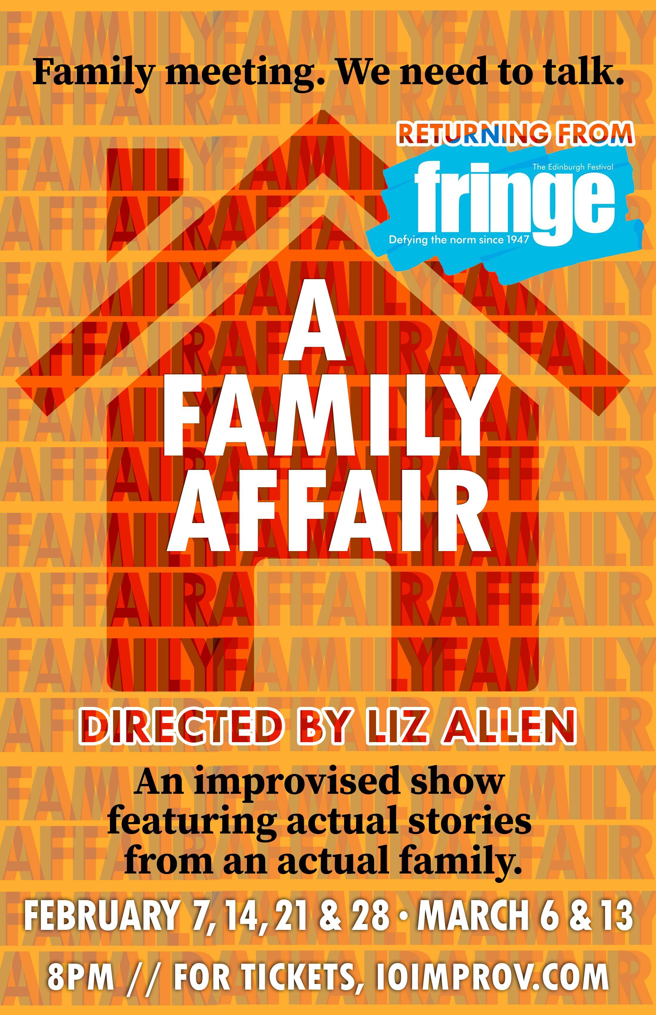 A Family Affair – Tickets – First Floor