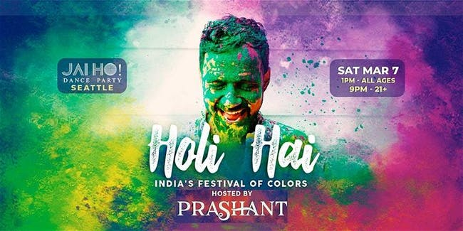 Holi Hai - All Ages Color Festival in Seattle w/ DJ Prashant