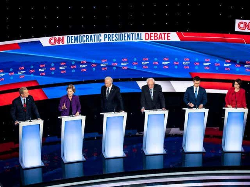 February Democratic Debate Watch Party at Manny's Night 3