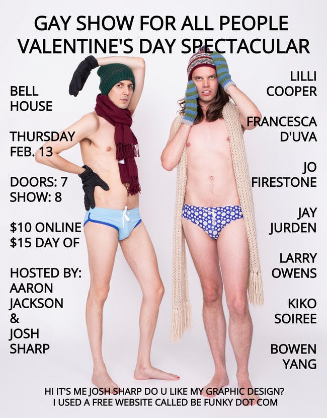 A Gay Show For All People Valentine's Day Spectacular