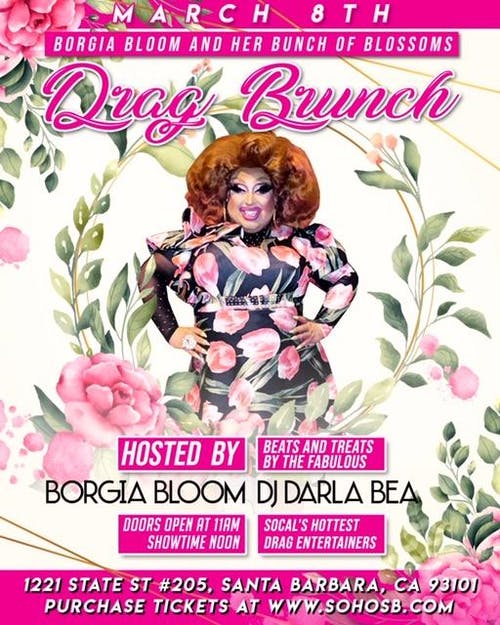 Drag Brunch hosted by Borgia Bloom and DJ Darla Bea