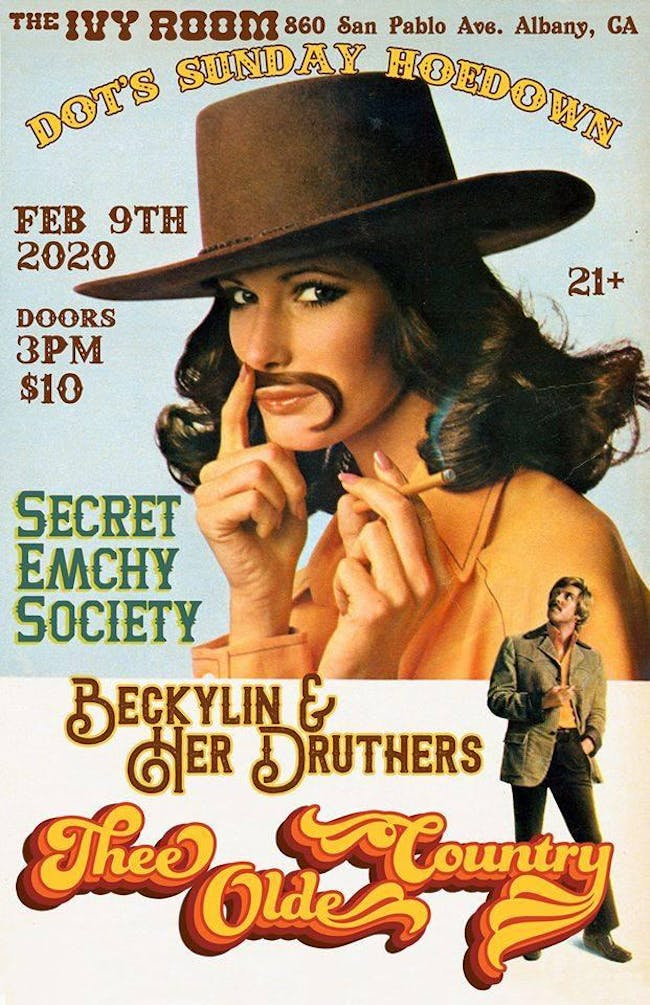 Dot's: Thee Old Country, Secret Emchy Society, Beckylin & Her Druthers