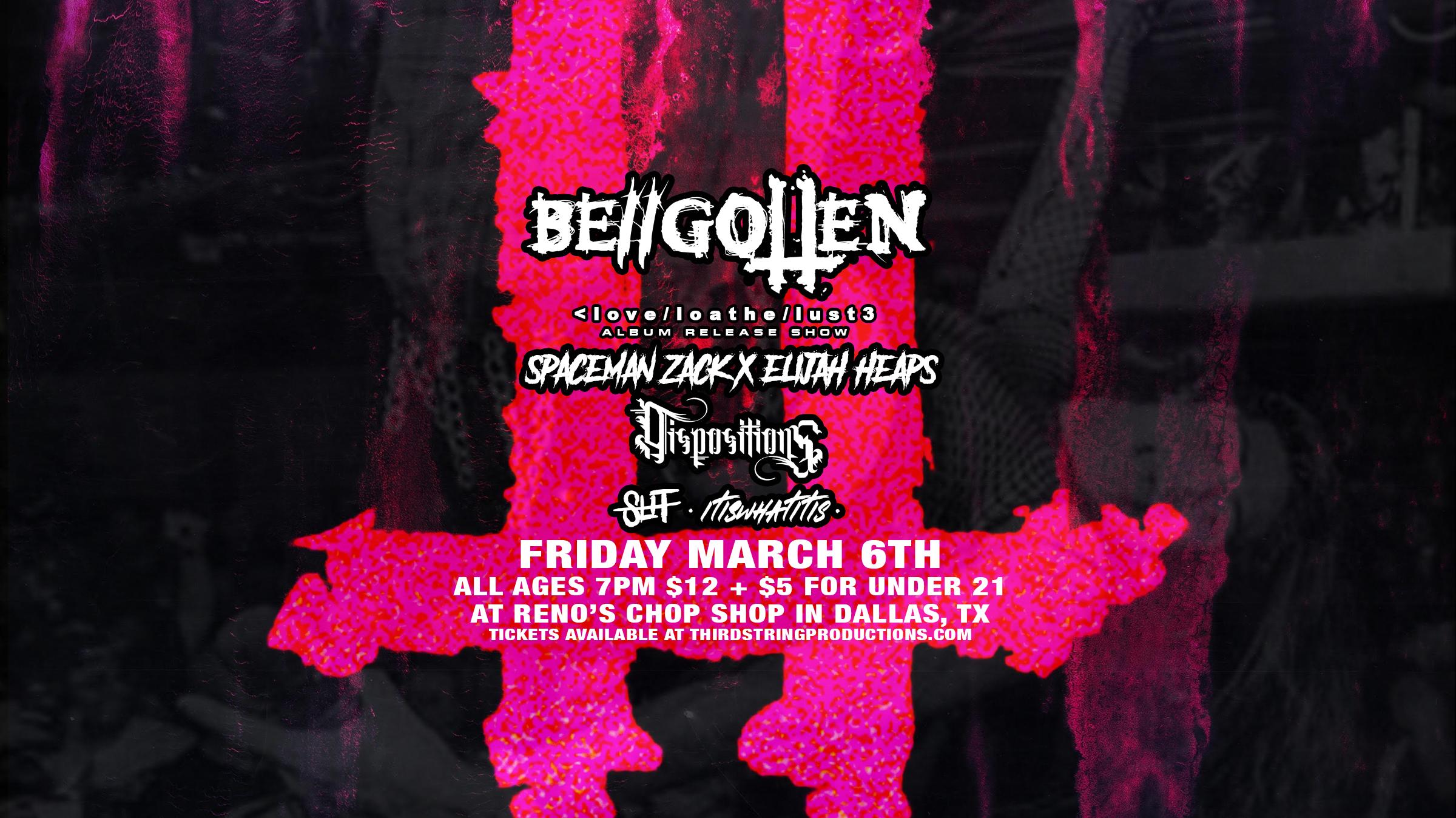 Be//Gotten Album Release Show at Renos Chop Shop!