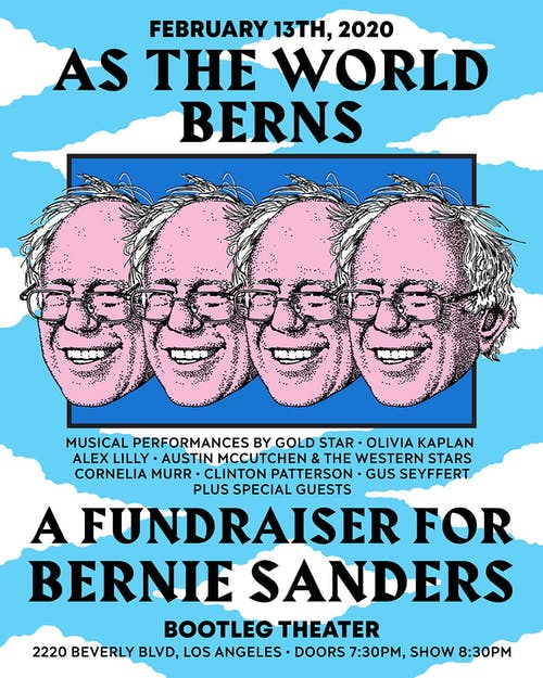 As The World Berns - A Fundraiser for Bernie Sanders