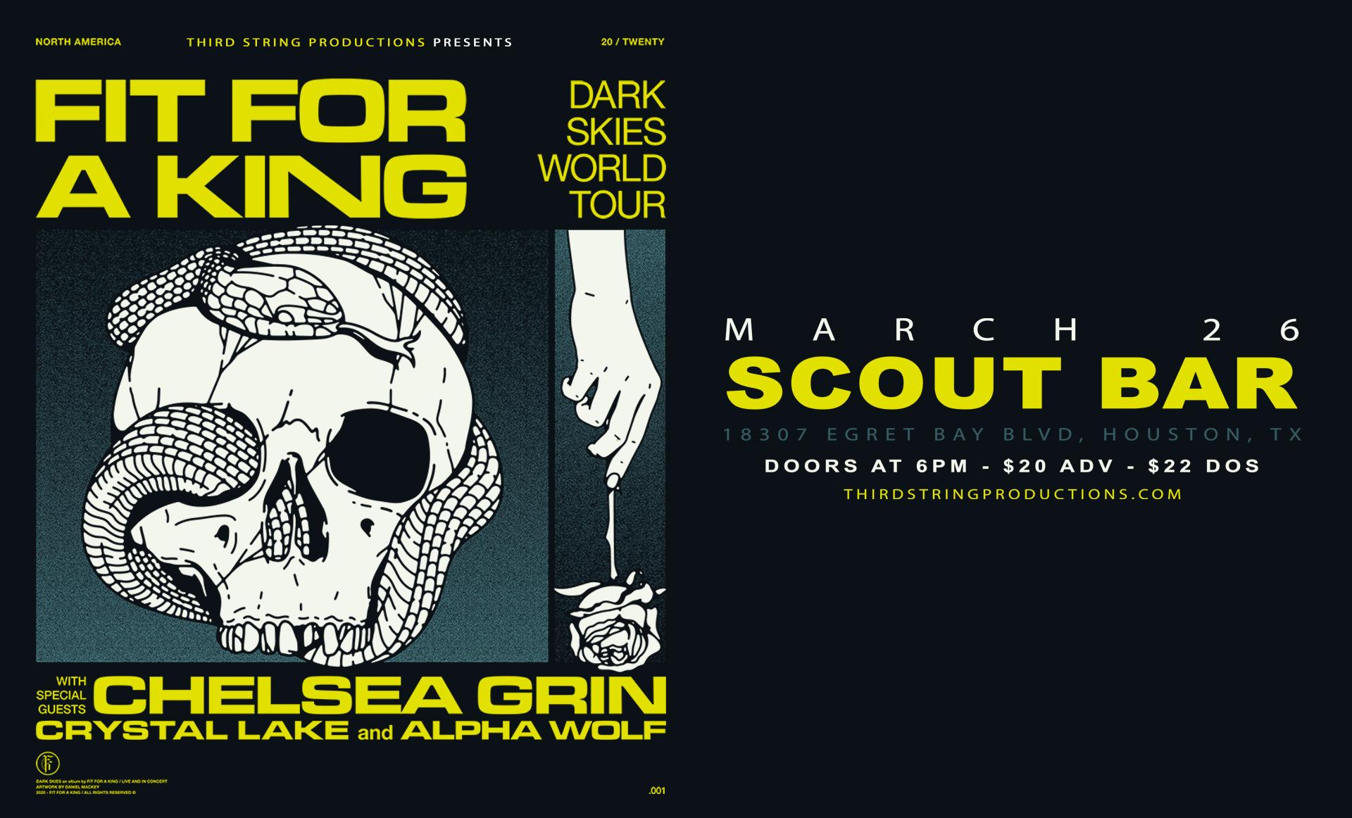 Fit For A King at Scout Bar