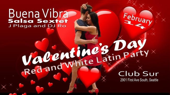 Valentine's Day Red and White Latin Night.