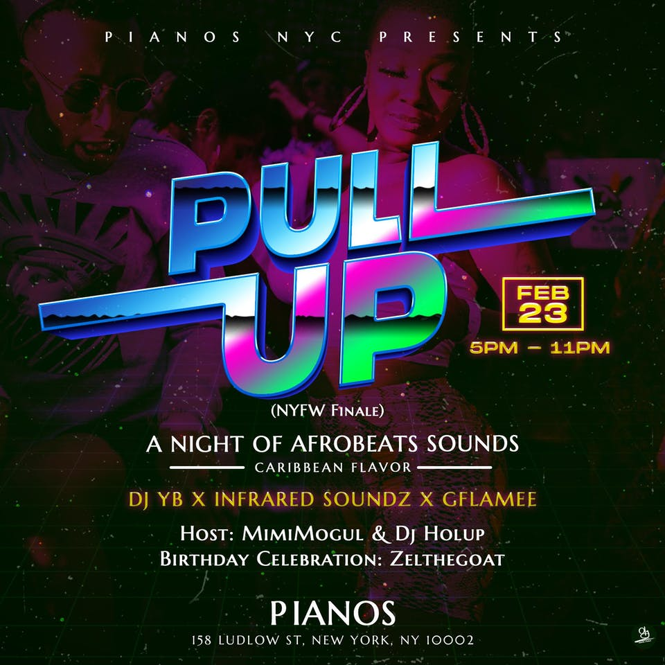 AFRO NIGHT LIVE Presents: PULL-UP An Afrobeats Nights With Carribean Flavor