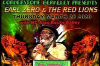 Earl Zero & The Red Lions w/ MC Alan Rocky Bailey