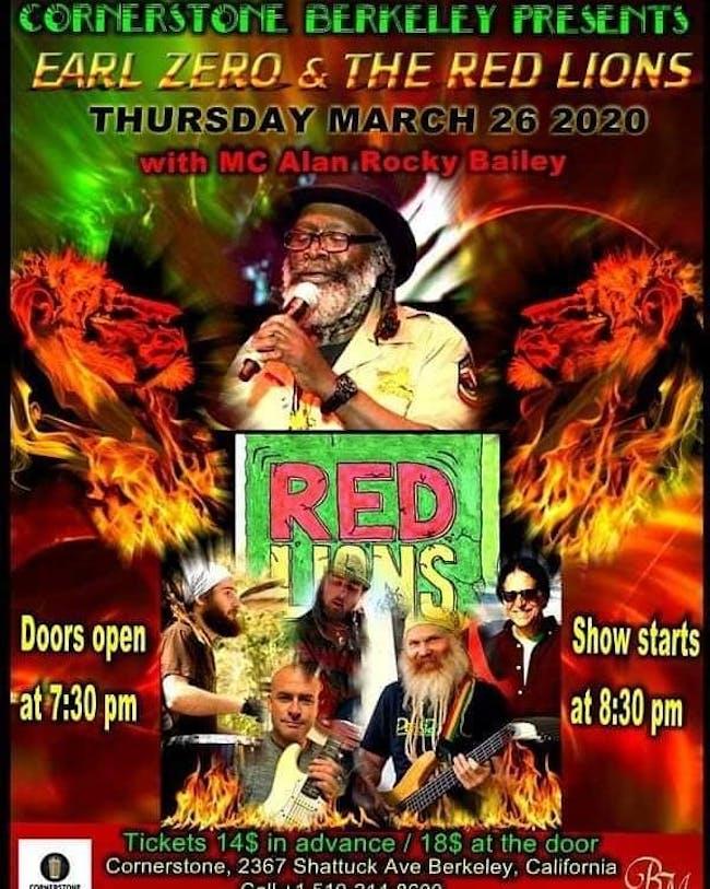 Earl Zero & The Red Lions w/ MC Alan Rocky Bailey