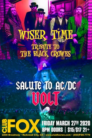 POSTPONED - WISER TIME w/VOLT - Salute to AC/DC