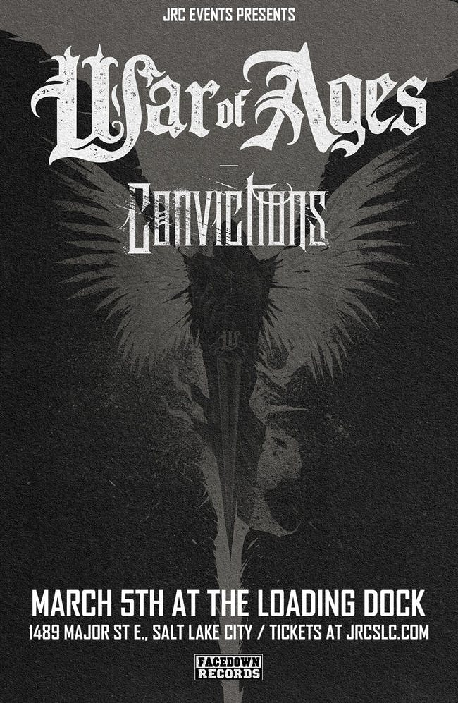 War of Ages w/ Convictions, The Conscience, Illicit Thoughts, stonethrower