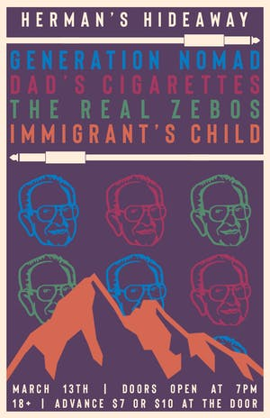 GENERATION NOMAD | DAD'S CIGARETTES | THE REAL ZEBOS | IMMIGRANT'S CHILD