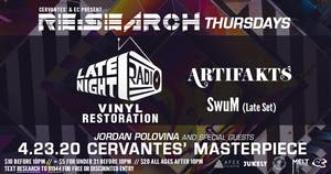 RE:Search ft. Late Night Radio  w/ Artifakts, SwuM, Jordan Polovina