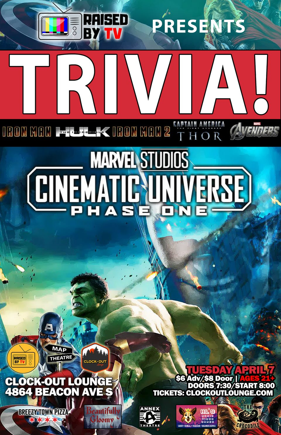 Marvel Films Trivia : Phase 1