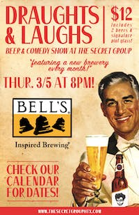 DRAUGHTS & LAUGHS: BEER & COMEDY SHOW! Feat. Bells Brewing!