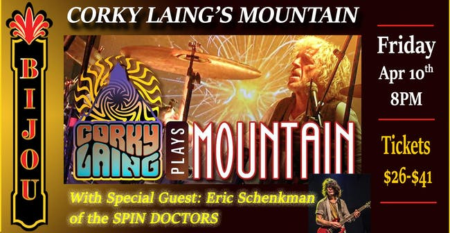 Corky Laing's MOUNTAIN - Mississippi Queen 50th Anniversary Cowbell Tour