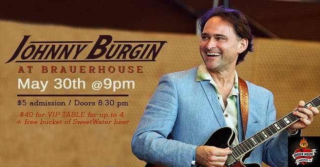 Johnny Burgin at Brauer House