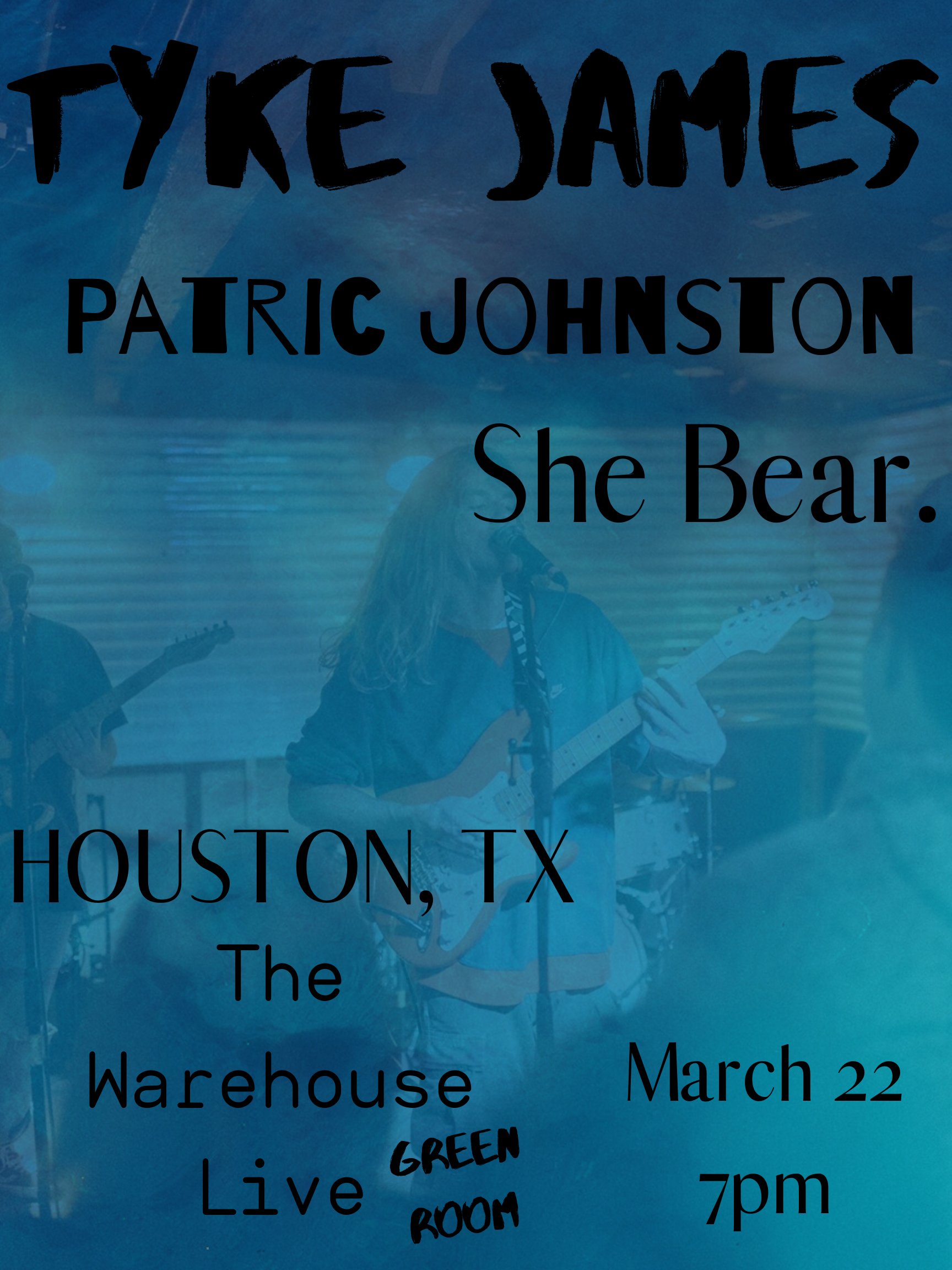 TYKE JAMES / SHE BEAR / PATRIC JOHNSTON