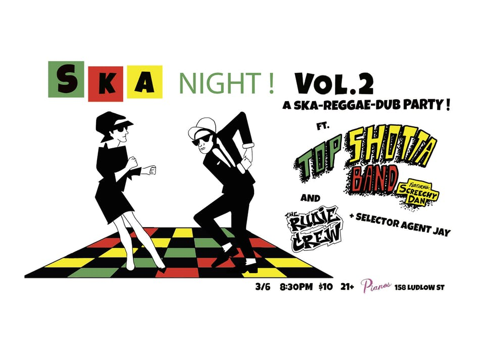 Ska Night Vol. 2 Top Shotta Band, Rudie Crew, Selector Agent Jay