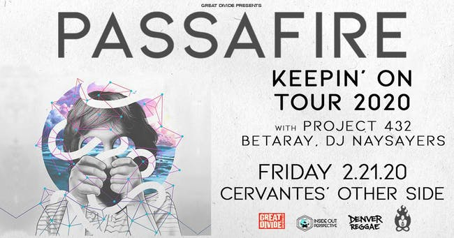 Passafire - Keepin' On Tour w/ Project 432, BetaRay, DJ Naysayers