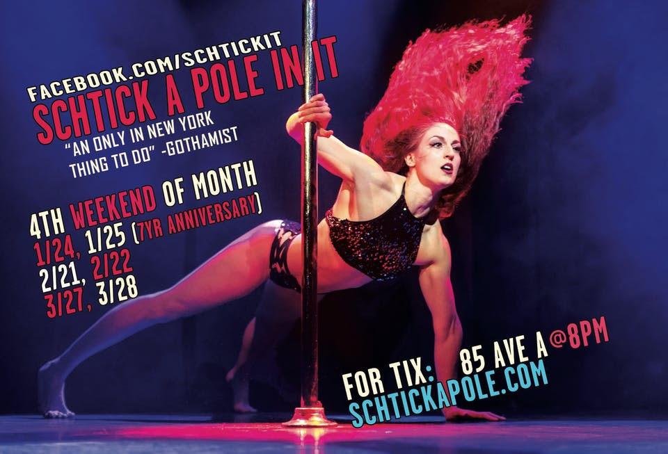 [CANCELLED] Schtick A Pole In It: Comedy and Pole Dancing