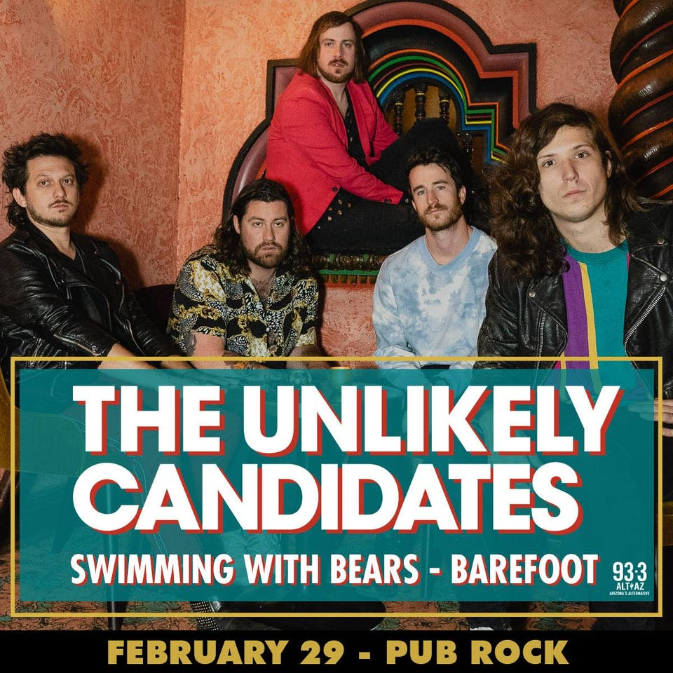 Unlikely Candidates at Pub Rock Live