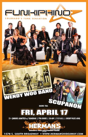 FUNKIPHINO w/ Wendy Woo Band | Scupanon | more tba