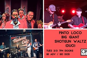 PiNTO LOCO, Big Giant, Shotgun Waltz (duo) at ONCE Lounge