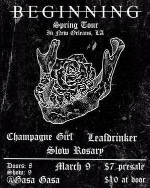 Beginning, Champagne Girl, Leafdrinker, Slow Rosary