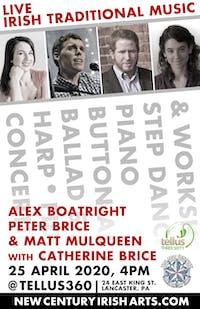 Traditional Irish Music with Alex Boatright, Peter Brice, and Matt Mulqueen