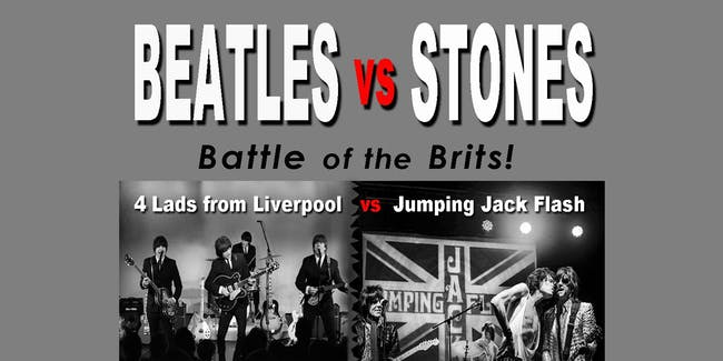 RESCHEDULED: BEATLES vs STONES (No Guest)