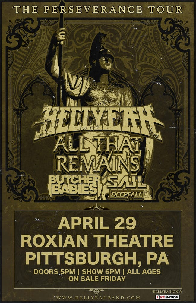 HELLYEAH: The Perseverance Tour (POSTPONED)