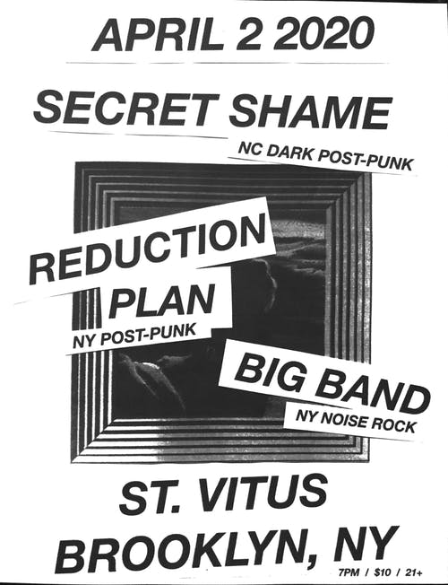 Secret Shame, Reduction Plan, Big Band