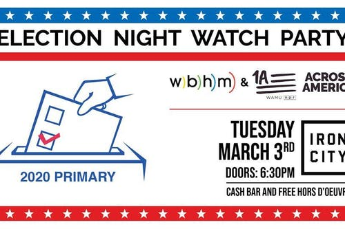 Election Night Watch Party with WBHM and 1A