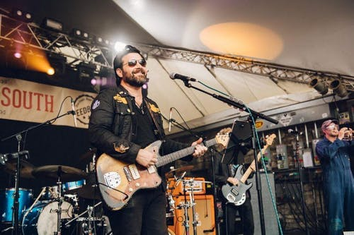 Bob Schneider and his band