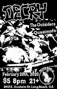 DECRY with The Outsiders & Quasimofo + more TBA