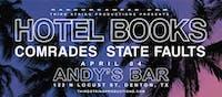 Hotel Books + Comrades at Andys Bar