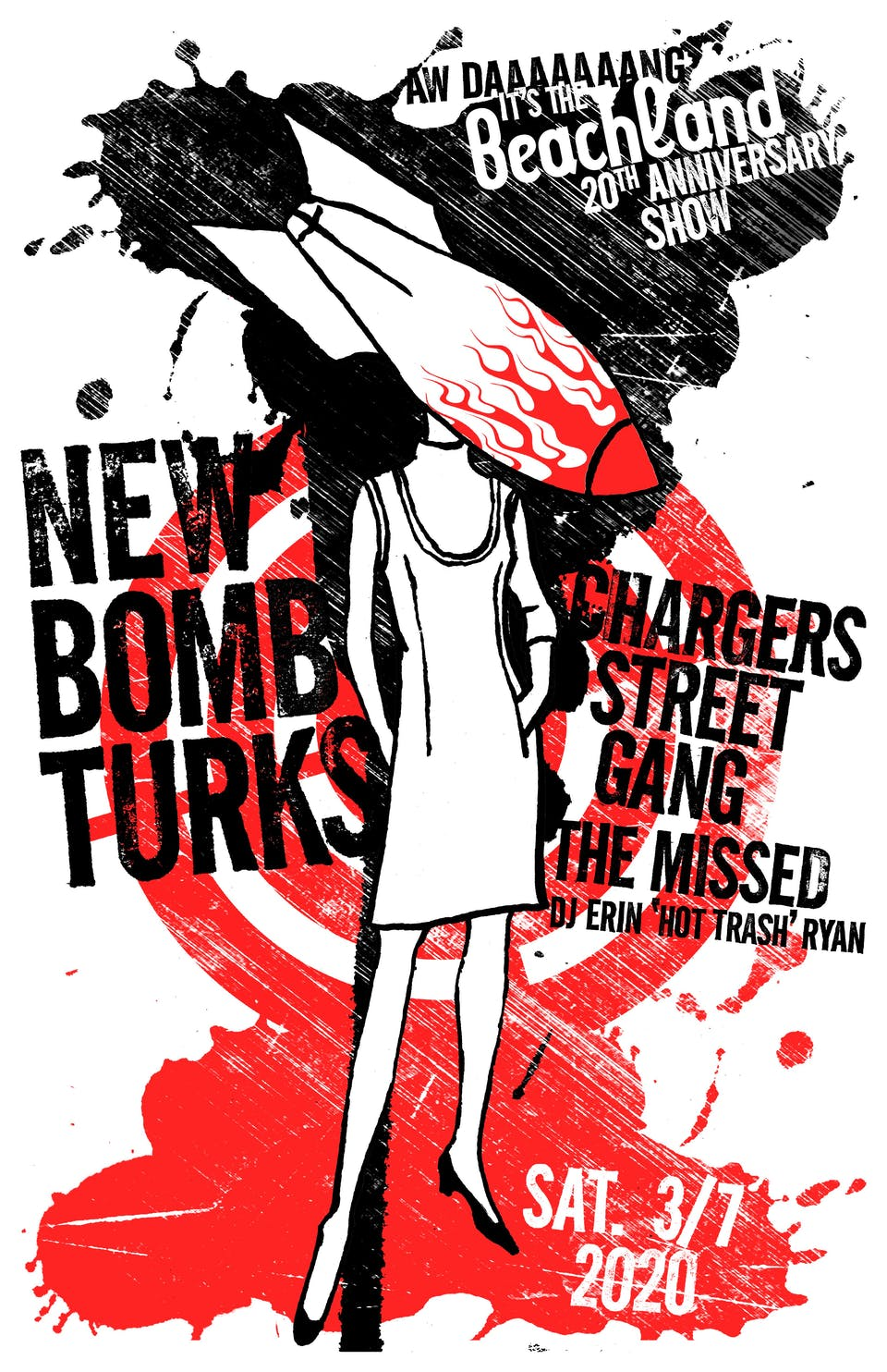 """New Bomb Turks • The Chargers Street Gang • The Missed • DJ """"Hot Trash"""""""