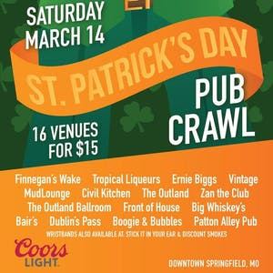 St. Patrick's Day Pub Crawl w/ Zero Zero and Luna J