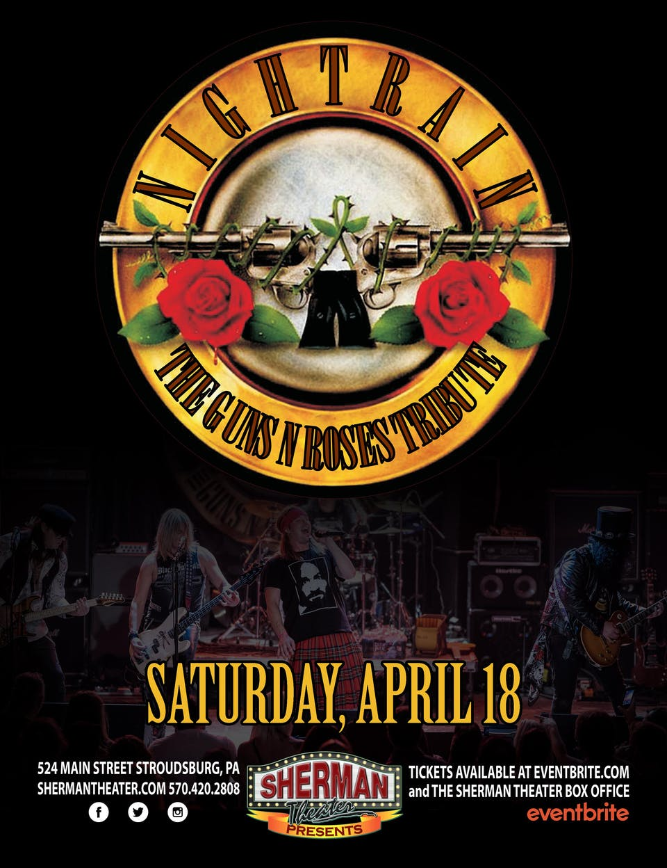 POSTPONED: Nightrain - A Guns N Roses Tribute Experience