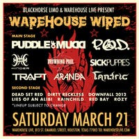 WAREHOUSE WIRED w/ PUDDLE OF MUDD / P.O.D. / DOWNFALL 2012
