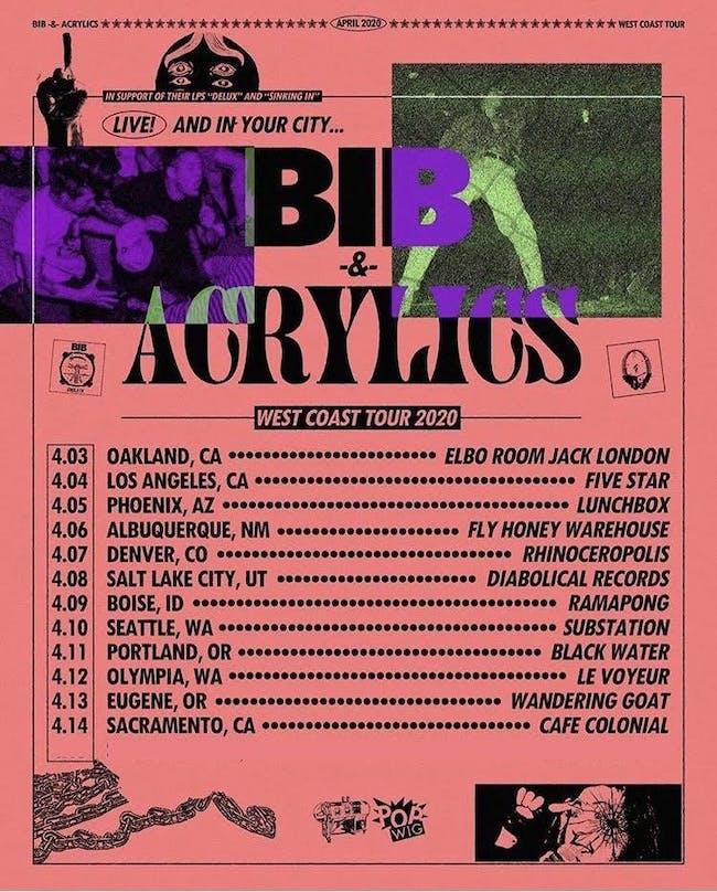 ACRYLICS (IRON LUNG REC) // BIB // PIG CITY // MAXIMUM ROACH