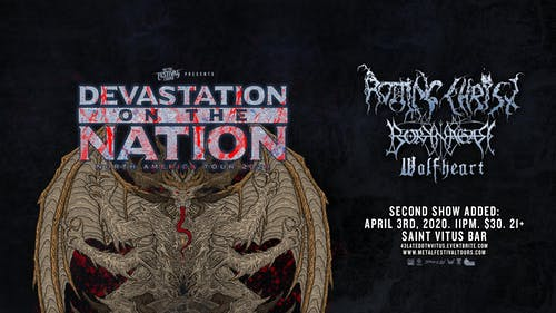Second show added: Rotting Christ, Borknagar, Wolfheart